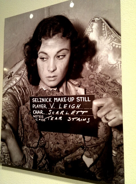 Makeup still of Vivien Leigh as Scarlett O'Hara GWTW at Ransom Center Austin (photo by Sheila Scarborough)