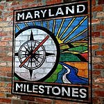 Maryland Milestones logo in Heritage Center building Hyattsville MD (photo by Sheila Scarborough)