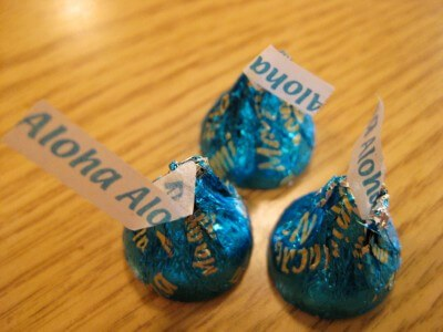 Mauna Loa macadamia nut Hershey Kisses, only sold in Hawaii (photo by Sheila Scarborough)