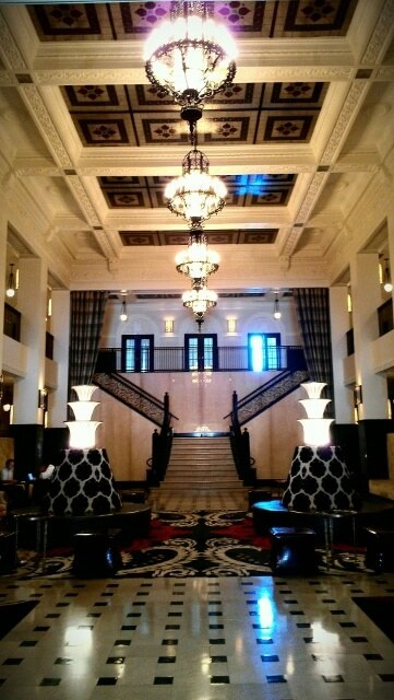 Mayo Hotel lobby, Tulsa, Oklahoma (photo by Sheila Scarborough)