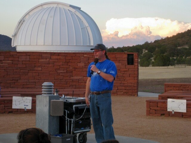 Getting star-smart during the Twilight Program at McDonald Observatory Fort Davis TX (photo by Sheila Scarborough)