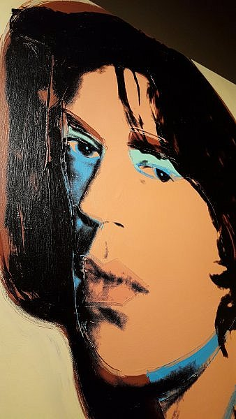 Mick Jagger portrait by Andy Warhol at the Warhol Museum Pittsburgh (photo by Sheila Scarborough)