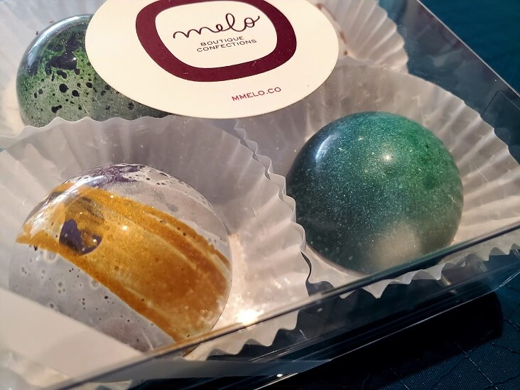 Trails in Columbus Ohio Mmelo Boutique Confections chocolates near North Market is on the Coffee Trail (photo by Sheila Scarborough)
