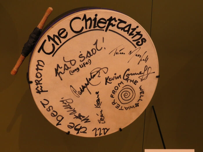 A Bodhran Signed by The Chieftains, at the Musical Instrument Museum in Phoenix