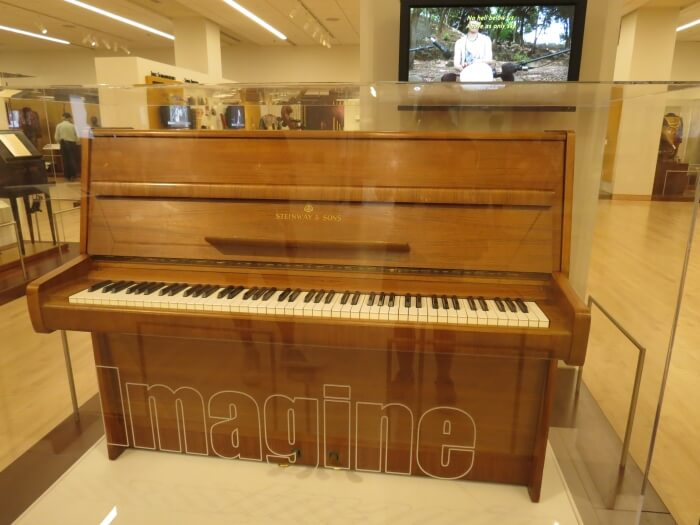 The piano on which John Lennon composed Imagine, at the Musical Instrument Museum in Phoenix