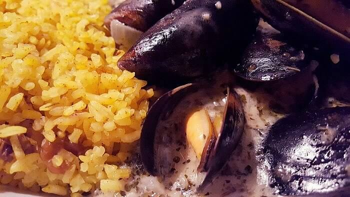 Mussels for dinner at Liefie Li Vine Winnsboro TX (photo by Sheila Scarborough)
