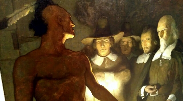 NC Wyeth's Stern and Defiant at the Albrecht-Kemper Museum of Art St Joseph Missouri