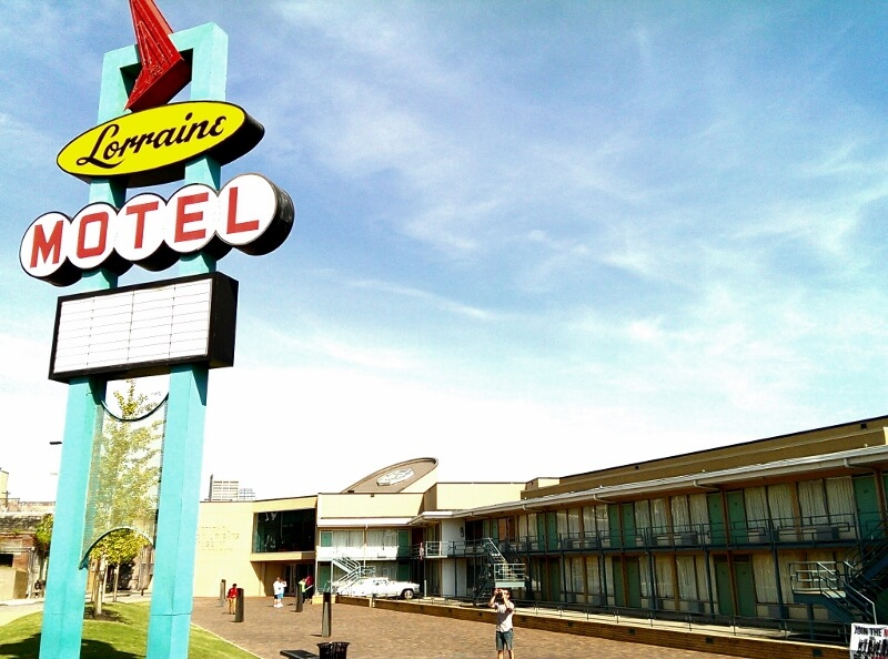 National Civil Rights Museum Memphis in former Lorraine Motel (photo by Sheila Scarborough)