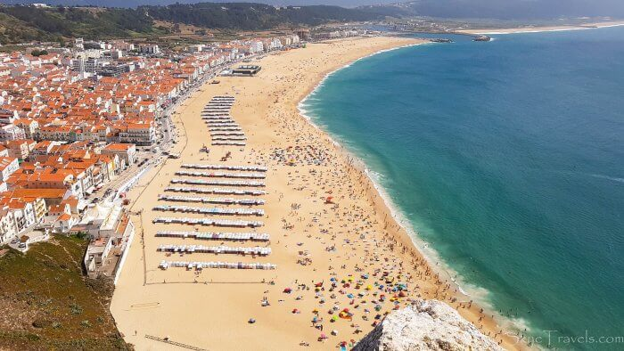 Nazare Surfing Beach