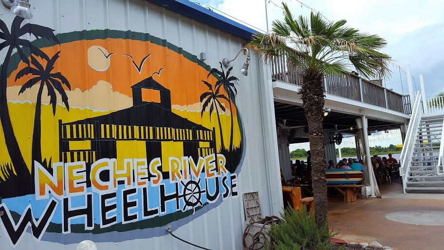 Neches River Wheelhouse restaurant on the river Port Neches TX (photo by Sheila Scarborough)