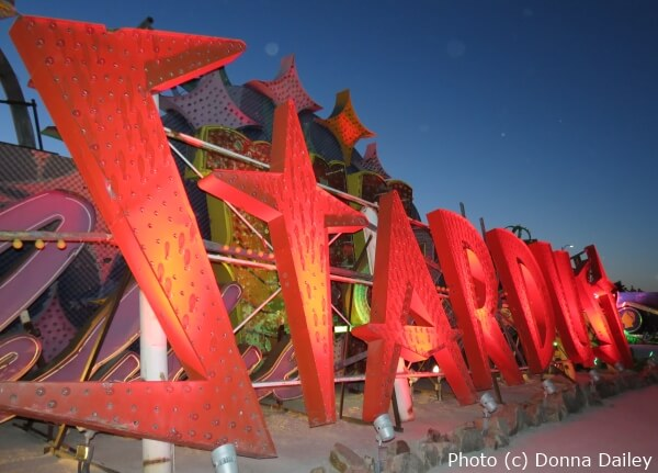 A neon sign from the Stardust Hotel at the Neon Boneyard Museum in Las Vegas, Nevada.
