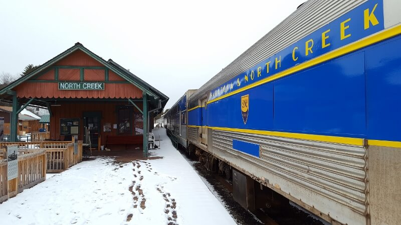 North Creek Railroad Station on the New York State Theodore Roosevelt Heritage Trail (photo by Sheila Scarborough)