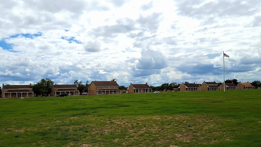 Officers Row at Fort Concho in San Angelo TX (photo by Sheila Scarborough)