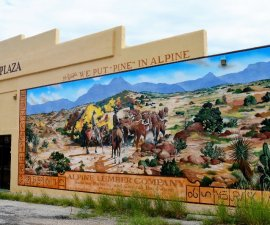 Arts in West Texas includes murals in Alpine TX (photo by Diann Bayes)