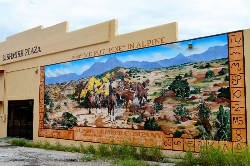 One of the murals in Alpine TX (photo by Diann Bayes)
