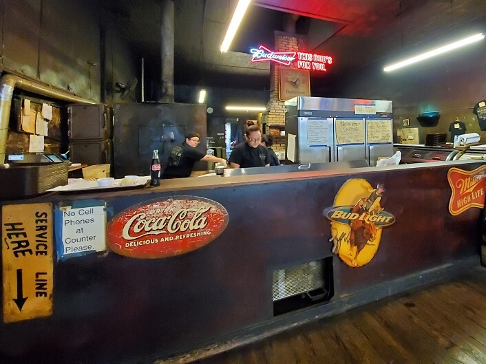 Ordering counter Louie Mueller BBQ Taylor TX near Austin (photo by Sheila Scarborough)