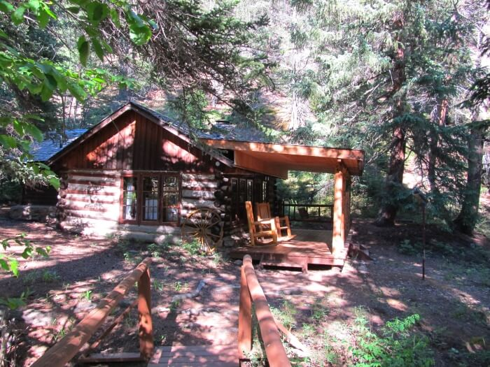 Our log cabin at Tumbling River Ranch in Colorado