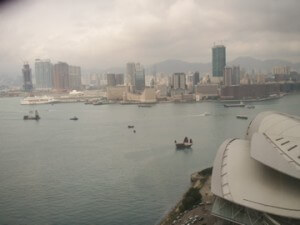Victoria Harbour, Hong Kong, as seen from the Grand Hyatt