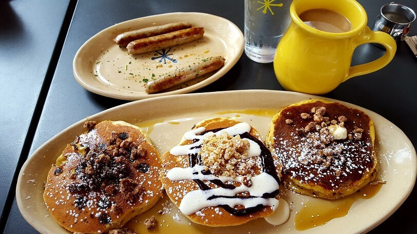 Start your perfect Austin morning with a pancake flight at Snooze A.M. Eatery (photo by Sheila Scarborough)