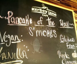 Pancake specials at Kerbey Lane Cafe Round Rock TX (photo by Sheila Scarborough)