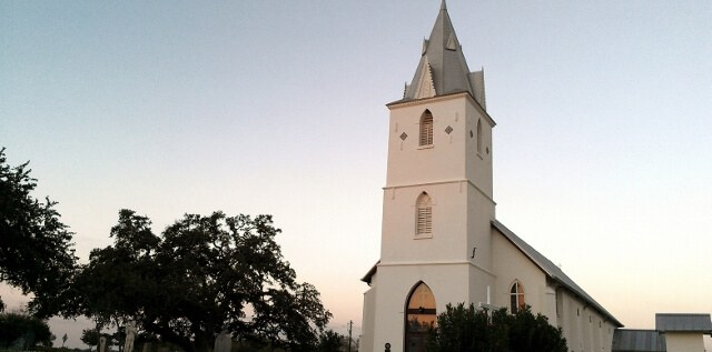 Panna Maria, Texas Polish settlement church exterior (photo by Sheila Scarborough)