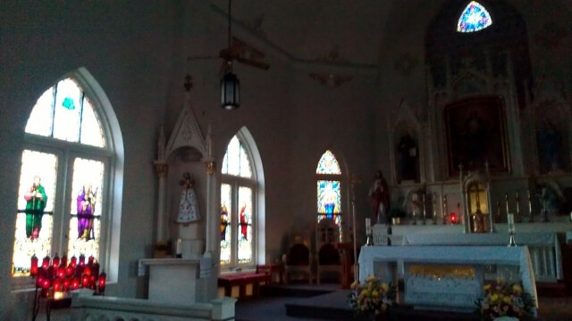 Panna Maria, TX church interior (photo by Sheila Scarborough)