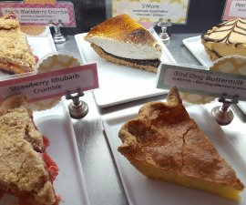 Pie options at Pie Junkie in the Plaza District Oklahoma City (photo by Sheila Scarborough)