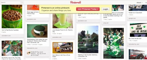 Pinterest Board for St Patrick's Day in Savannah GA (courtesy Savannah CVB)