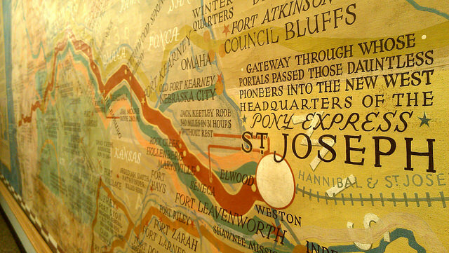Pony Express route diorama at the Pony Express National Museum St. Joseph MO (photo by Sheila Scarborough)