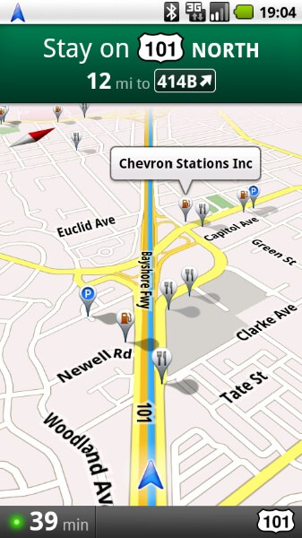 Popular search layers for Maps Navigation (image courtesy Google)