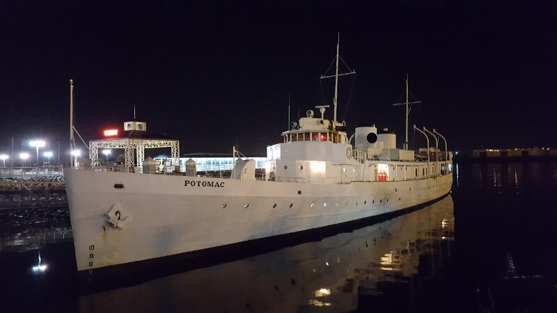 Presidential yacht Potomac at Jack London Square in Oakland CA (photo by Sheila Scarborough)