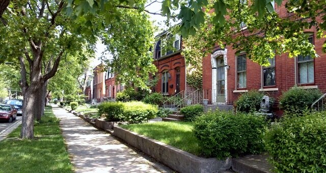 Pullman Historic District residential street in Chicago's Southland area (photo by Sheila Scarborough)