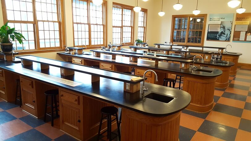 Recreation of George Washington Carver lab at Tuskegee (photo by Sheila Scarborough)