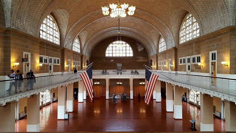 Registry Room Great Hall Ellis Island New York (photo by Sheila Scarborough)