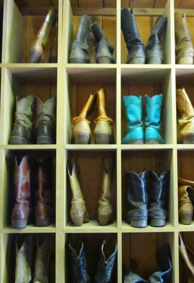 Riding boots at Tumbling River Ranch in Colorado