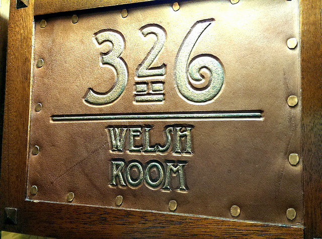 Room sign at the Hotel Pattee in Perry Iowa photo by Sheila Scarborough