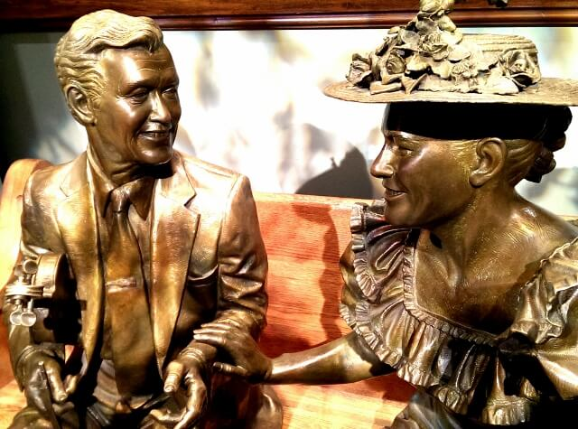 Roy Acuff and Minnie Pearl in the lobby of Ryman Auditorium Grand Ole Opry (photo by Sheila Scarborough)