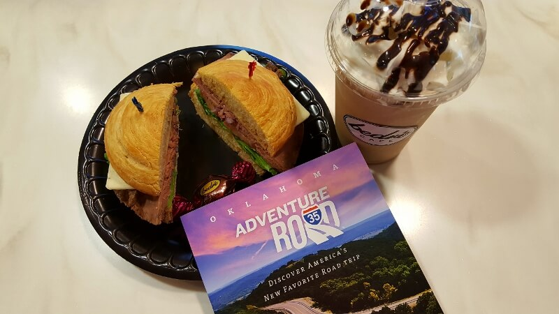 Sandwich and shake at the Artesian Hotel in Sulphur OK Bedré Cafe (photo by Sheila Scarborough)