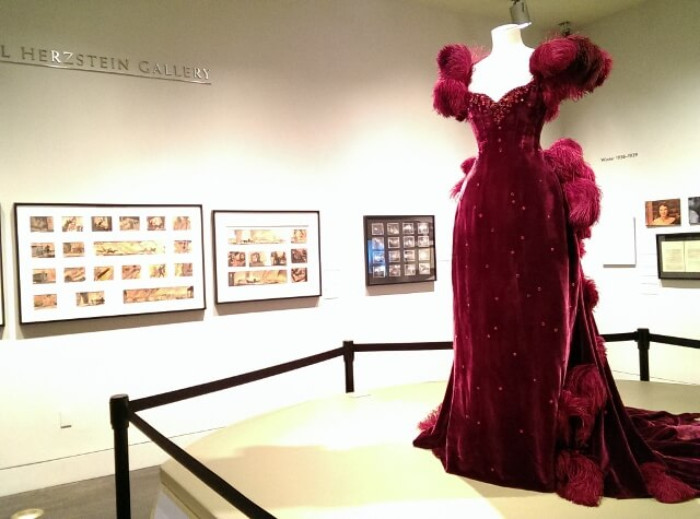 Scarlett dress at Ransom Center Austin GWTW Gone With The Wind special exhibit (photo by Sheila Scarborough)
