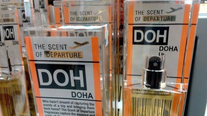 Scent of Departure for sale in the Doha, Qatar airport (photo by Sheila Scarborough)