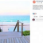 Screenshot of Pink Sands beach resort Facebook Page post Harbour Island The Bahamas
