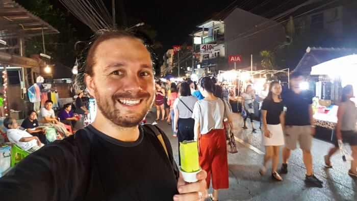 Selfie at Chiang Mai Night Market