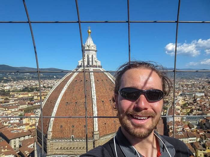 Selfie at the Florence Duomo