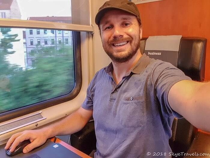 Selfie on RegioJet Train