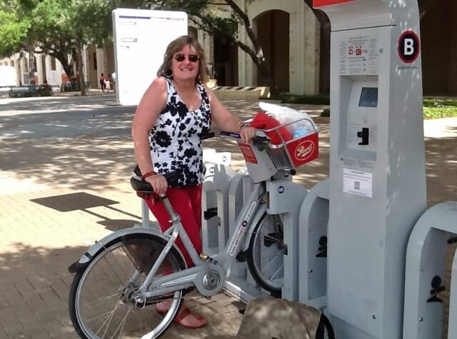 At the B-cycle bike sharing station San Antonio Convention Center (photo by Chris Fancher)