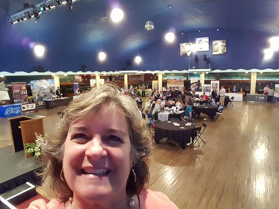 Sheila Scarborough at Surf Ballroom Clear Lake Iowa for Building Community 2018 conference