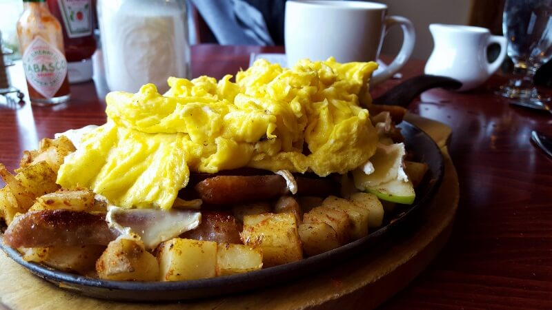 Skillet rösti at The Breakfast Club Etc in downtown Lake Placid NY (photo by Sheila Scarborough)