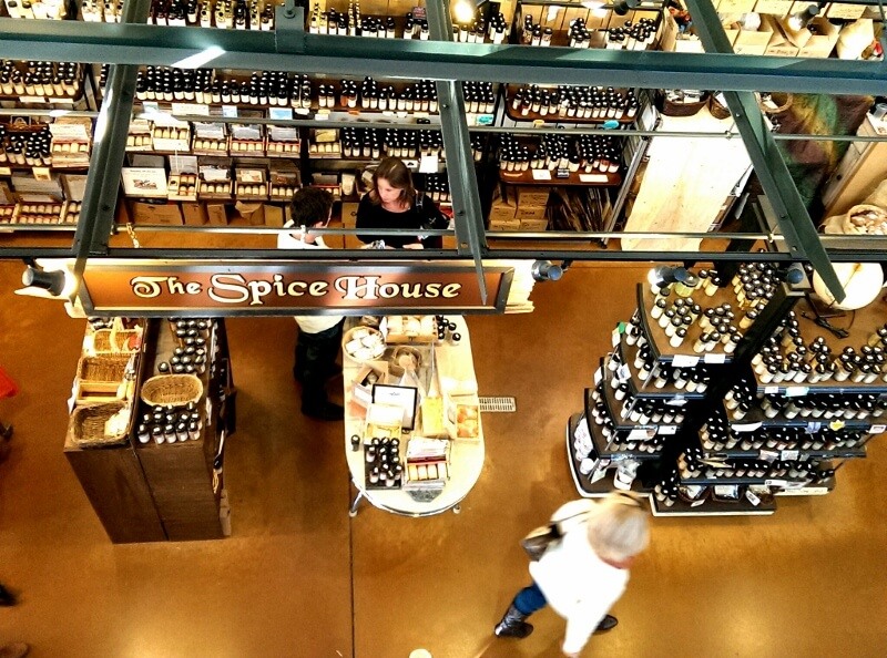 Spice House as seen from above at Milwaukee Public Market (photo by Sheila Scarborough)