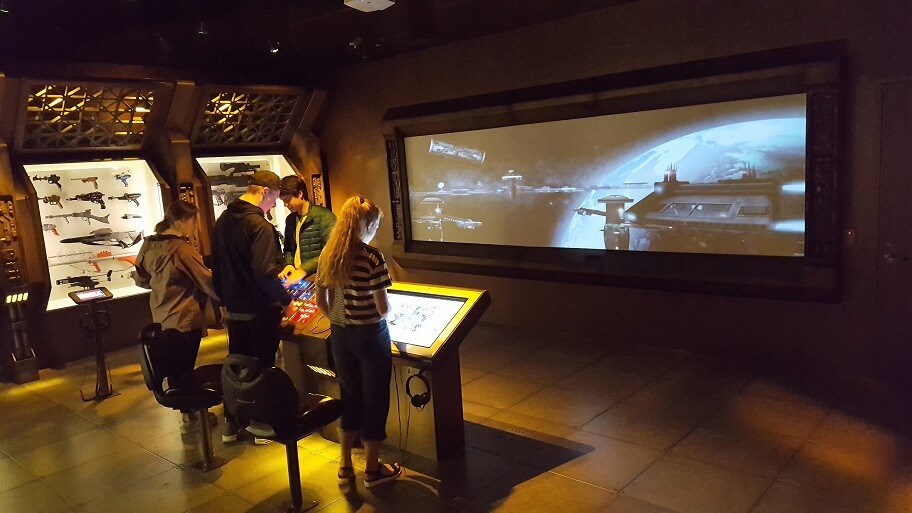Star Wars interactive video exhibit at MoPOP in Seattle (photo by Sheila Scarborough)