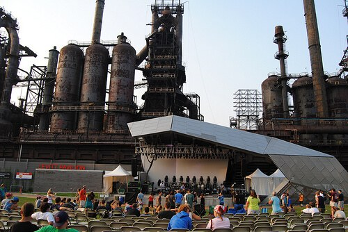SteelStacks concert prep (courtesy Lehigh Valley PA at Flickr CC)